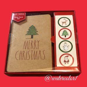 🆕 Rae Dunn MERRY CHRISTMAS Note Card Set